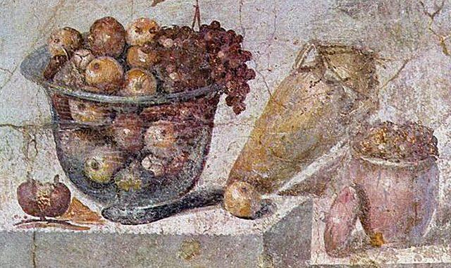 Obst Fresko.Pompeii