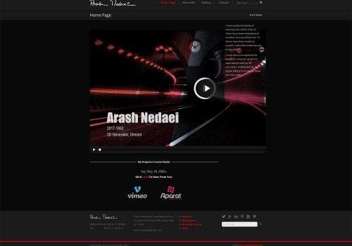 طراحی وب سایت Arashnedaei.com