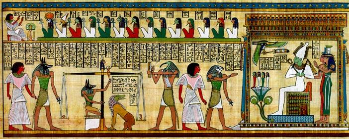جانوران نمادین در نقاشی مصر باستان