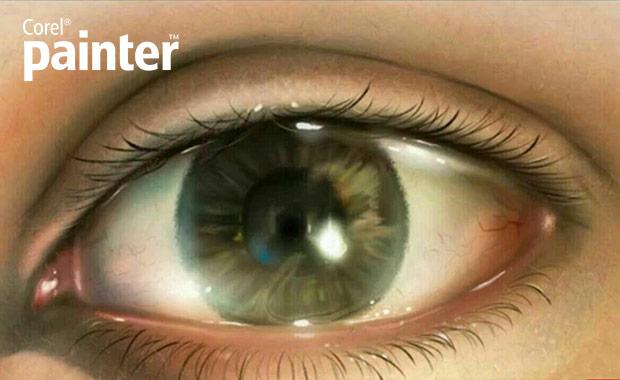 آموزش نرم افزار کورل پینتر طراحی چشم