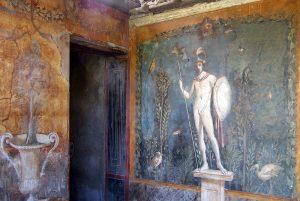 نمونه از آثار به جا مانده در شهر پمپی